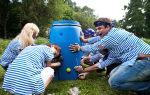 Как реанимировать дырявую бочку для воды с минимальными усилиями